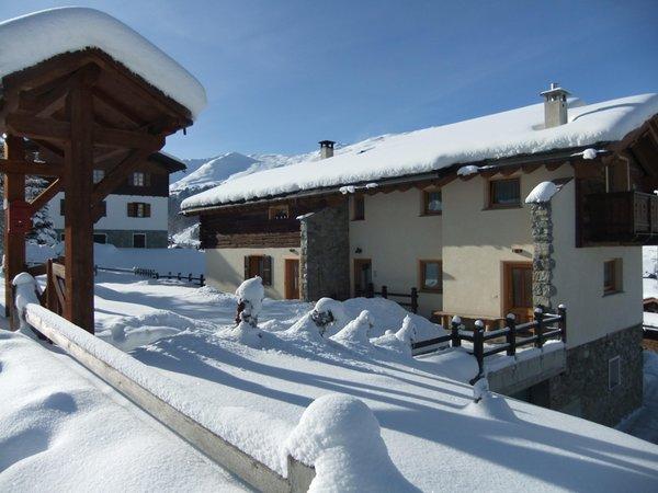 Foto esterno in inverno Casa Teola