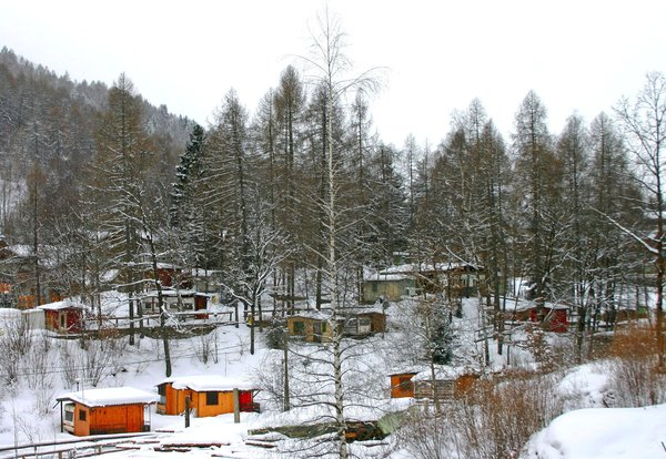 Photo exteriors in winter Camping Aprica