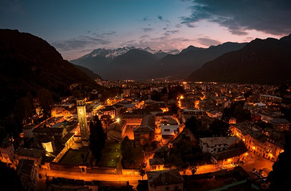 Panoramic view Chiavenna