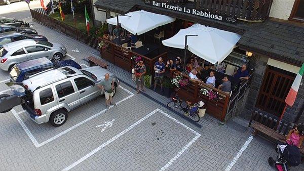 Il parcheggio Albergo La Rabbiosa
