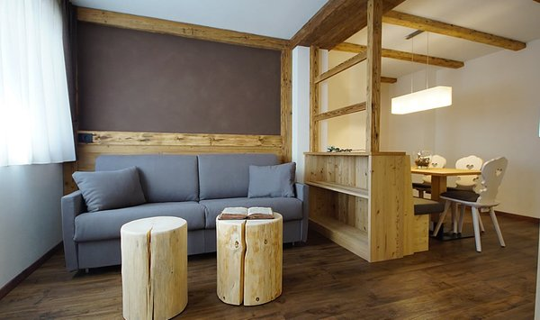 La zona giorno Chalet Ambria Appartments - Appartamenti 2 soli