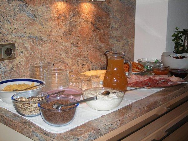 La colazione Haus Bergblick - Garni (B&B) + Appartamenti 2 soli