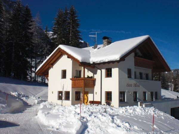 Winter Präsentationsfoto Ferienwohnungen Ciasa Odlina