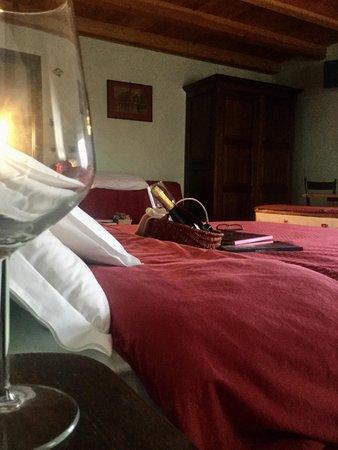 Foto vom Zimmer B&B + Ferienwohnungen auf dem Bauernhof Chèvres à cheval