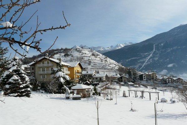 Foto invernale di presentazione Appartamenti in agriturismo Verger Plein Soleil