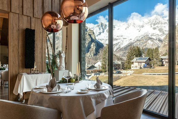 Das Restaurant Courmayeur (Monte Bianco) Grand Hotel Courmayeur Mont Blanc