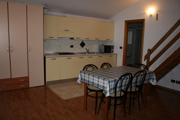 La zona giorno Monterosa - Residence 2 stelle