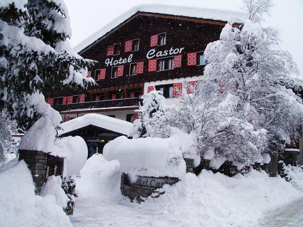 Foto invernale di presentazione Hotel Castor