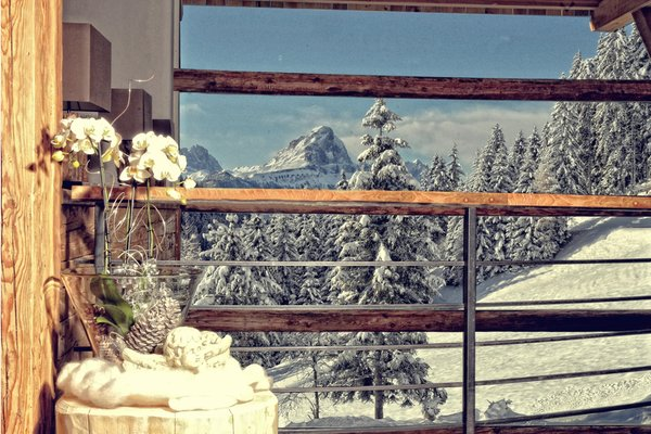 Foto vom Balkon Alpine Hotel Gran Fodá