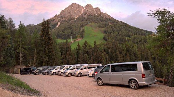 Der Parkplatz Alpine Hotel Gran Fodá
