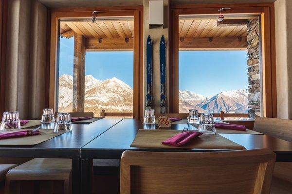 Il ristorante La Thuile (Monte Bianco) Lo Ratrak