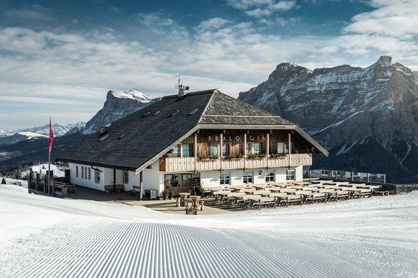 Foto invernale di presentazione Rifugio-Hotel Pralongià