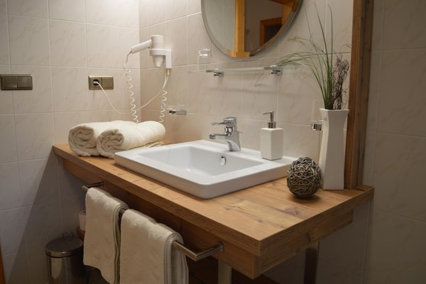 Foto del bagno Appartamenti in agriturismo Nantlhof