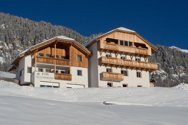 Foto invernale di presentazione Appartamenti Miribunghof