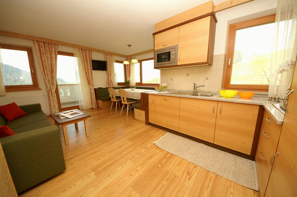 La zona giorno Appartamenti Miribunghof