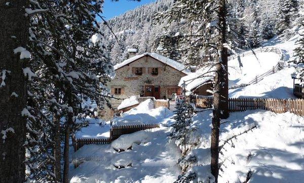 Foto invernale di presentazione Rifugio-Hotel Lyfi Alm