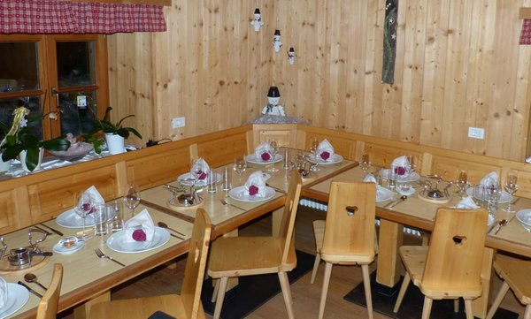 Il ristorante Val Martello Lyfi Alm