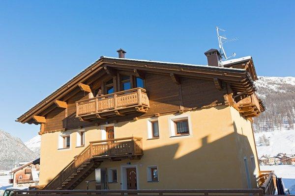 Foto esterno in inverno Casa Pedretti