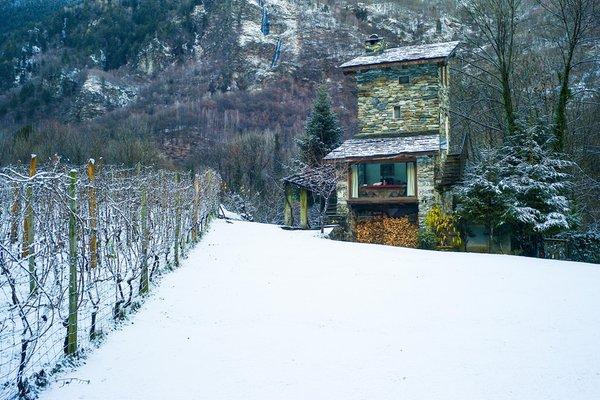 Foto esterno in inverno Torre Scilano