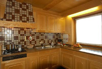 Foto der Küche Ciasa Saina
