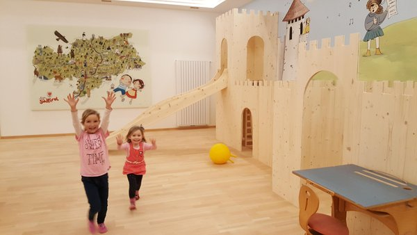 La sala giochi Appartamenti in agriturismo Moarlhof