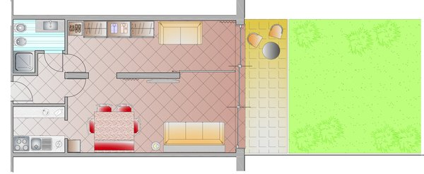 The floor plan Apartment Condominio Le Nasse