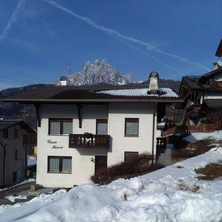 Foto invernale di presentazione Appartamenti Casa Faoro