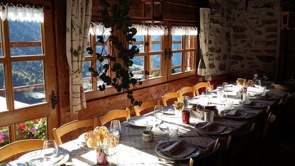 Il ristorante Valle del Vanoi Maso Santa Romina