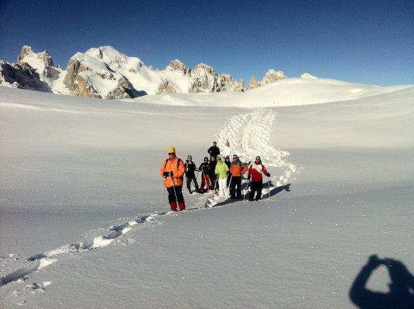 Foto invernale di presentazione Scuola di alpinismo Aquile di San Martino