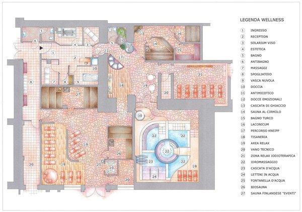 The floor plan Adler Hotel Wellness & Spa