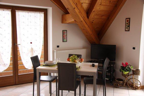 La zona giorno Casa Bellavista - Appartamenti 4 genziane