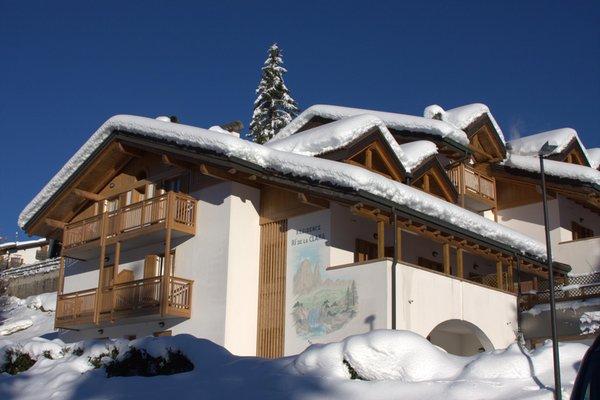 Foto invernale di presentazione Appartamenti Rì de la Clama