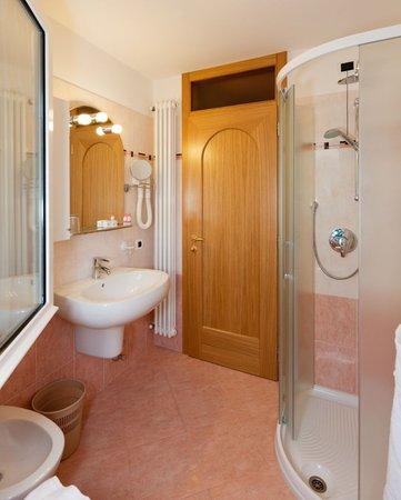 Foto del bagno Hotel Rosalpina