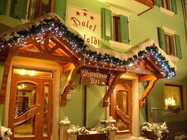 Foto invernale di presentazione Hotel Bertoldi