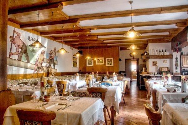 The restaurant Bertoldi (Lavarone) Caminetto