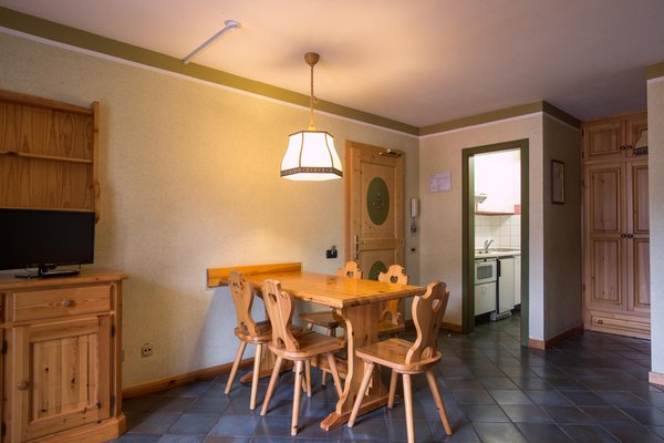 La zona giorno Residence Serrada - Mountain Holiday