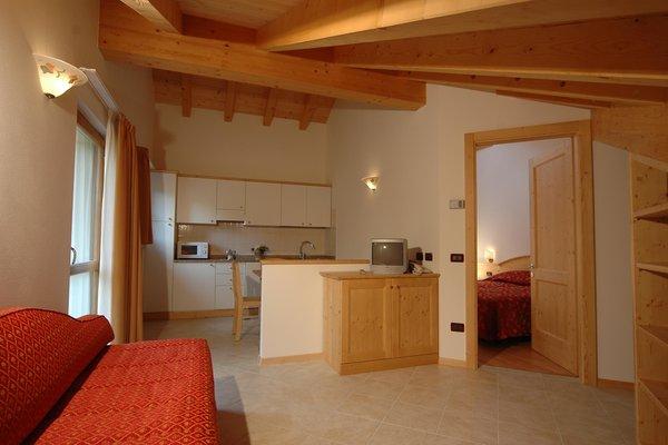 Der Wohnraum Tana della Volpe - Residence 3 Sterne