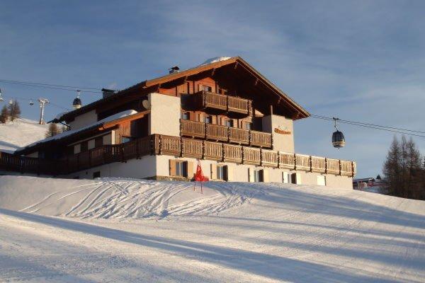 Winter presentation photo Mountain hut Panorama