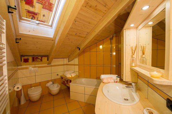 Foto del bagno B&B + Appartamenti Chalet La Rugiada