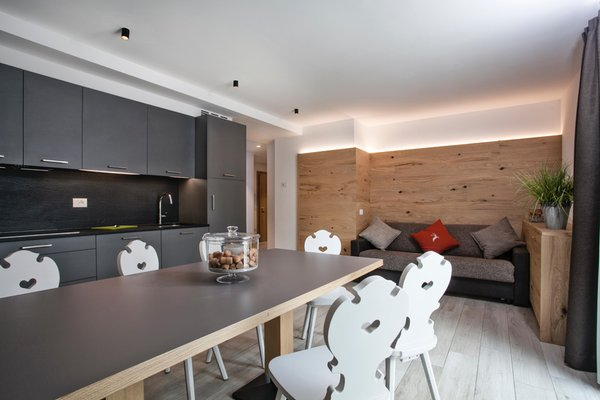 La zona giorno Casa Orso Grigio - Appartamenti