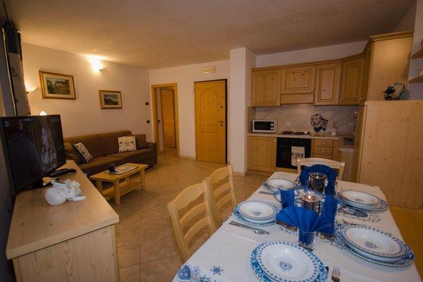 La zona giorno Casa Ferrari - Appartamenti 4 genziane