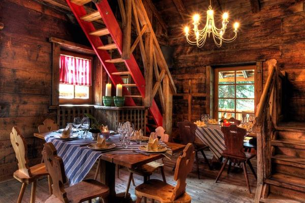 The restaurant Corvara L'Murin Ostaria