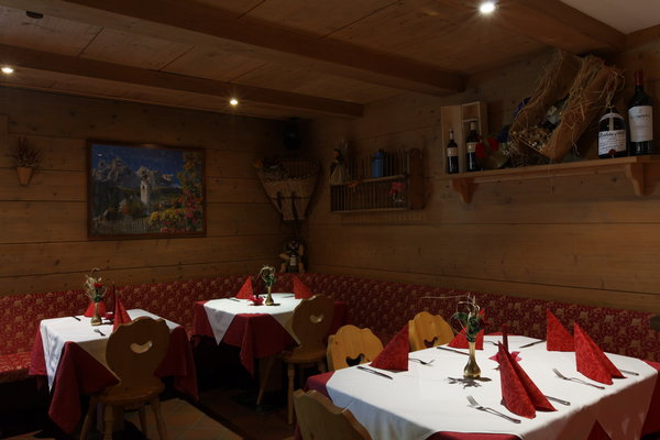 The restaurant Corvara Salvan