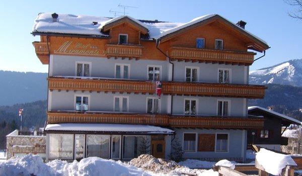 Foto invernale di presentazione Hotel Miramonti