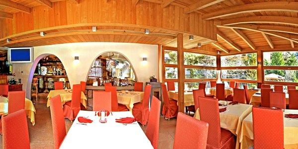 Il ristorante La Villa La Bercia
