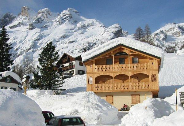 Foto invernale di presentazione Appartamenti Casa Brose