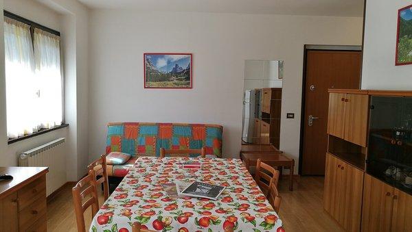 La zona giorno Campicioi - Appartamenti 3 genziane