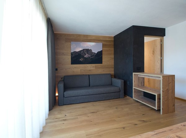 La zona giorno Appartamenti Villa Kriendl