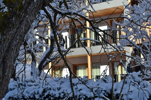 Foto esterno in inverno Villa Kriendl