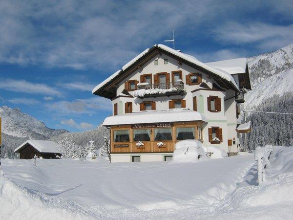 Foto invernale di presentazione Affittacamere Quinz